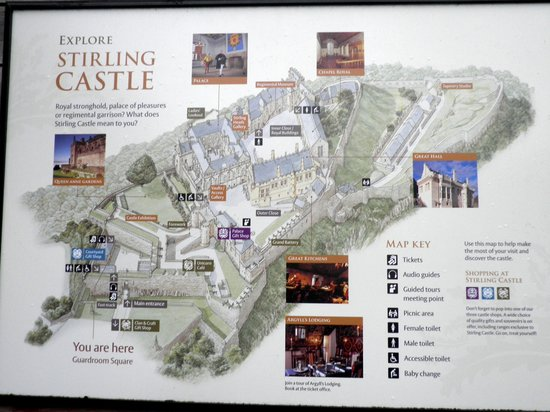 Location map of Stirling Castle
