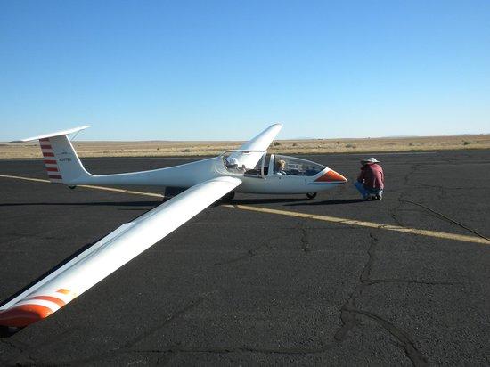 Sundance Aviation Glider Rides: Off we go, await tow plane