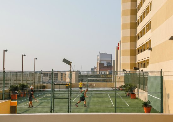 Rooftop Tennis Court Picture Of Beach Quarters Resort