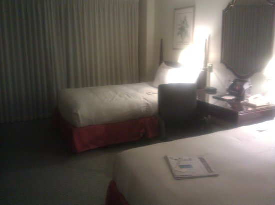 L'Enfant Plaza Hotel: 2 Beds and a Table+Chair between them
