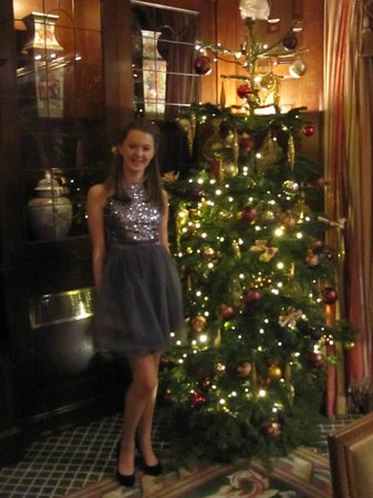 The Milestone Hotel: Christmas day by the tree in the lounge