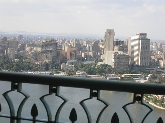 Four Seasons Hotel Cairo at Nile Plaza: view from my lovely suite