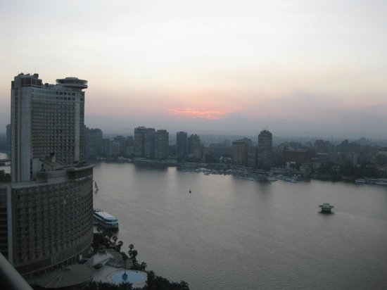 Four Seasons Hotel Cairo at Nile Plaza: view from my lovely suite on the 26 th floor