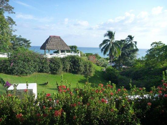 Las Sirenas de Santa Clara - Beach Front Cabins: vue depuis les casitas sur la colline