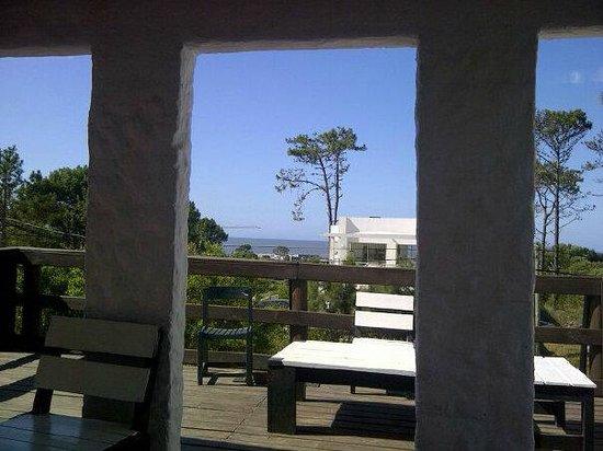El Viajero Manantiales Beach Hostel: vista hacia el mar