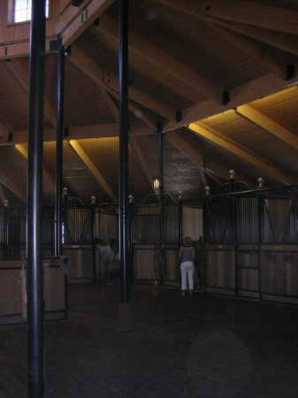 Chalk Hill Winery: Horse stables