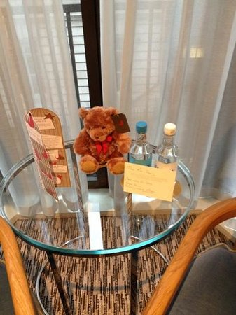 The Athenaeum Hotel & Residences: Welcoming card (can purchase bear)