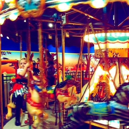 Gatti Town Pizza Buffet & Games: Merry-Go-Round for little ones!