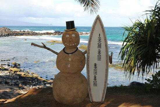 Mama's Fish House: Sand Snowman greeting