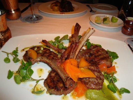 Bottega Napa Valley: Lamb Chops with Pistachio Pesto and Parsimony