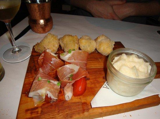 Bottega Napa Valley: Prociutto Wrapped Parsimony Appetizer