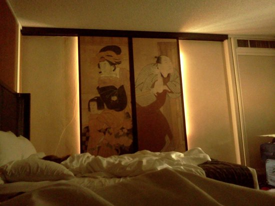 Hotel Kabuki, a Joie de Vivre hotel: Neat traditional Japanese screens in the room