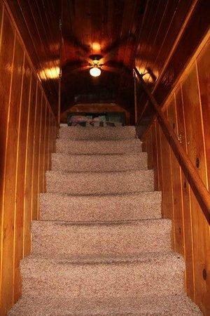 سليبي فوريست كوتيجيز: Stairs to Bedrooms 