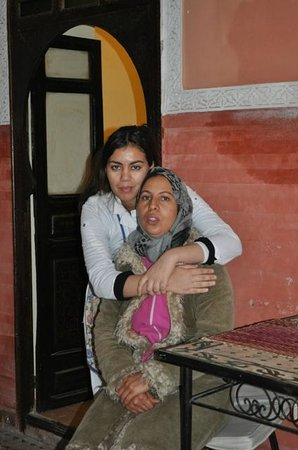 Riad Yamsara: Imam and her assistent, running the riad