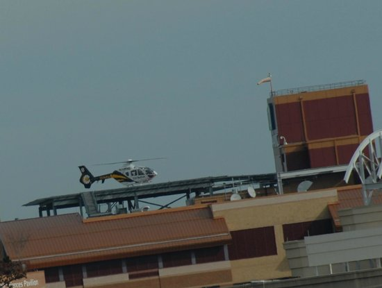 Crowne Plaza Annapolis : MedEvac on heliport Anne Arundel Medical Center