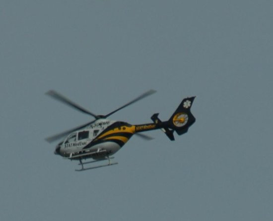 Crowne Plaza Annapolis: MedEvac hovering over Anne Arundel Medical Center