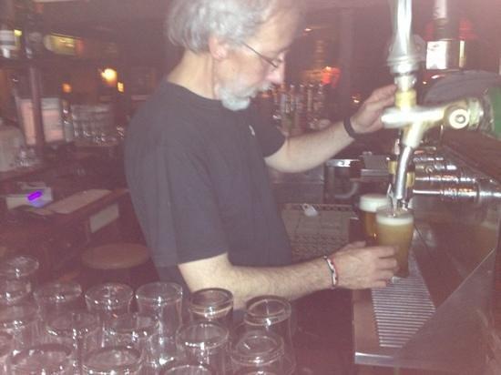 The Kilkenny: bar tender lucho! pilsner micro brew