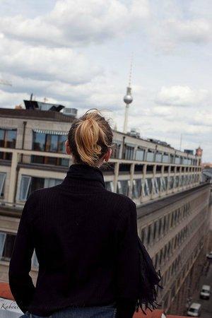 Grand Hyatt Berlin: Sur le toit de l'hôtel...Un grand bol d'air et la vue...