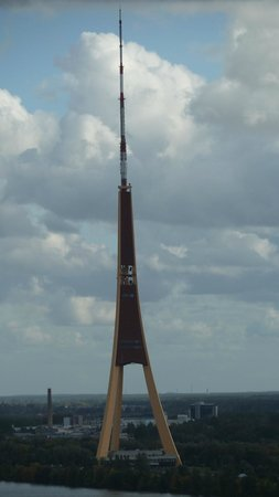 Riga Radio and TV Tower: on Island walking view