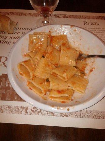 La Vecchia Roma: mezze maniche all' amatriciana