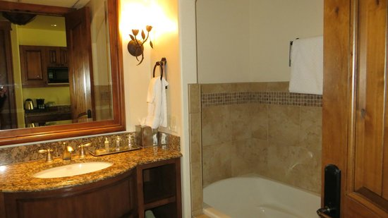 Tivoli Lodge: The bathroom and large tub