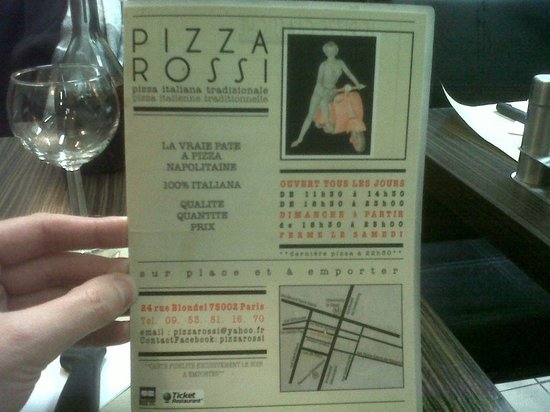 Pizza Rossi : Indirizzo
