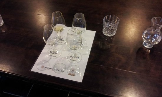 Glenfiddich Distillery: And the glasses they were in