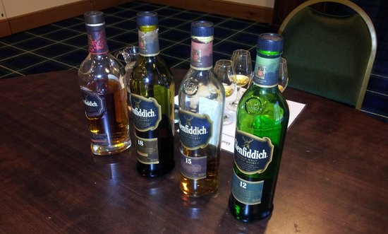 Glenfiddich Distillery: The 4 we sampled