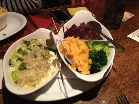 The Oak: The side of winter veggies that came with the seafood pie... so tasty!