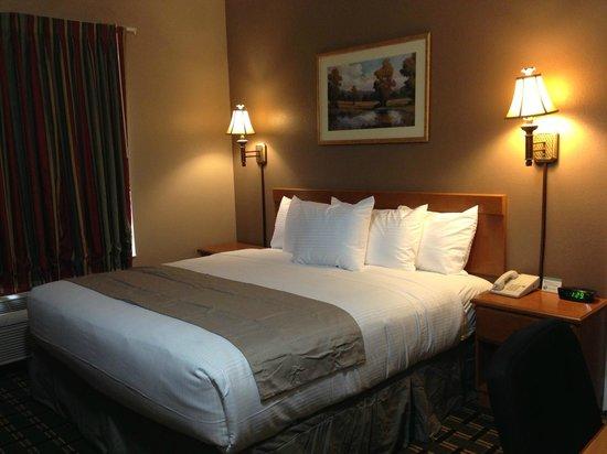 """Baymont Inn & Suites - Jacksonville: King Size Room with Micro/Fridge, 39"""" HDTV, Hair dryer"""