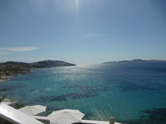 Agios Ioannis, Hellas: view from pool area
