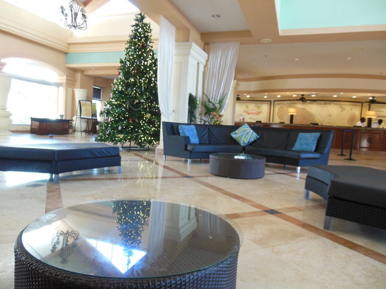 St. Kitts Marriott Resort & The Royal Beach Casino: Lobby and Front Desk is in the rear of this pic