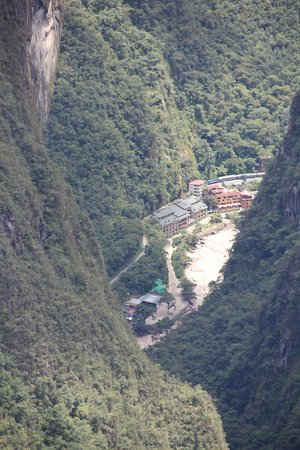 SUMAQ Machu Picchu Hotel: Hotel view from Machu Picchu