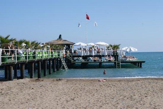 Delphin Palace Hotel: ponton avec bar et transats