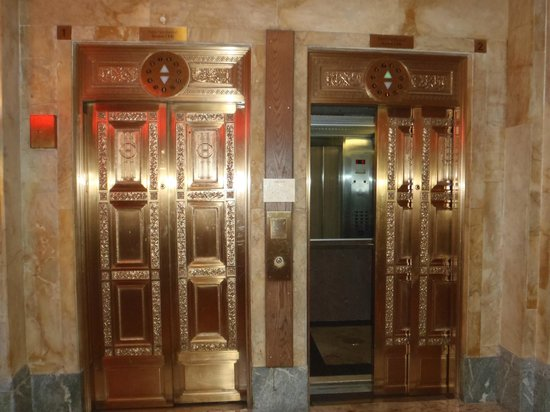 The Congress Plaza Hotel and Convention Center: The elevators