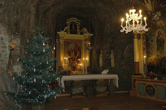 Chapel in Bochnia Salt Mine