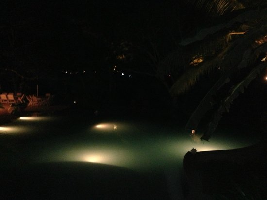 El Otro Lado: The Pool Area at Night