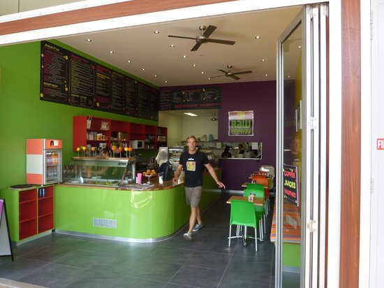 Raw Energy Coolum: Jimmy at Raw Energy great coffee maker