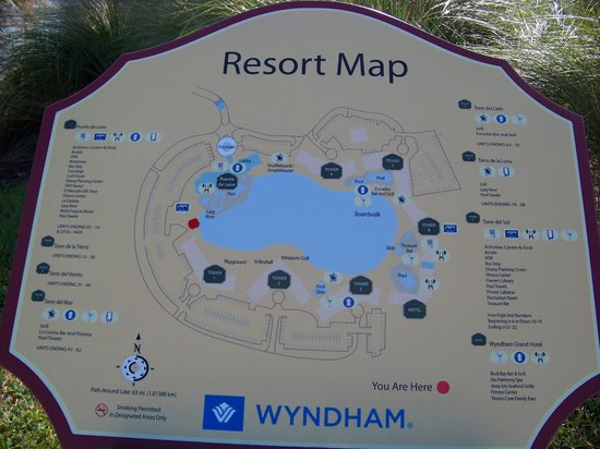 Wyndham Bonnet Creek Resort: Map of resort