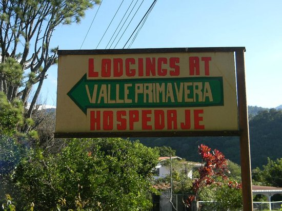 Valle Primavera: Welcome sign!