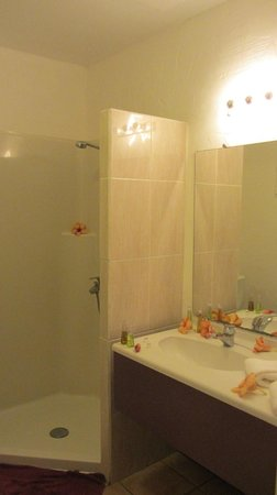 Raiatea Lodge Hotel: Shower