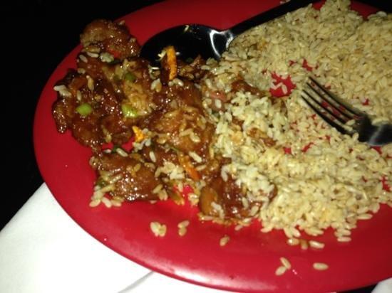 Pei Wei Asian Diner: orange peel beef, not good