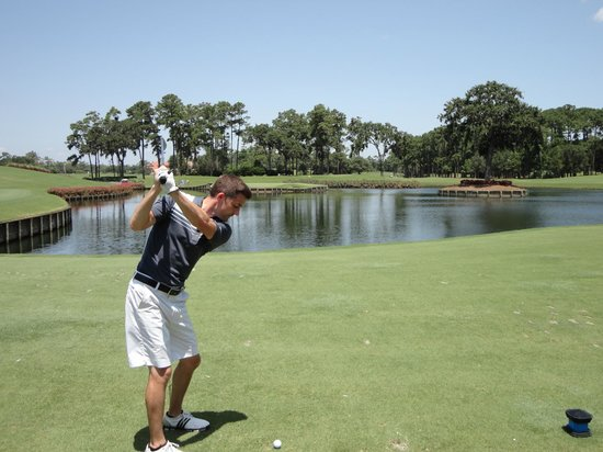 TPC at Sawgrass Stadium Course : Approach to the 17th