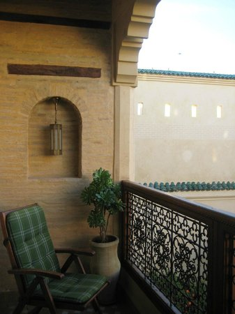 Ryad Salama Fes: Balcony of Amandine room