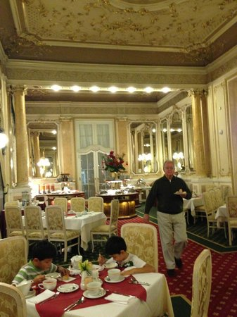 Mirrored dining room where we ate breakfast - Picture of ...