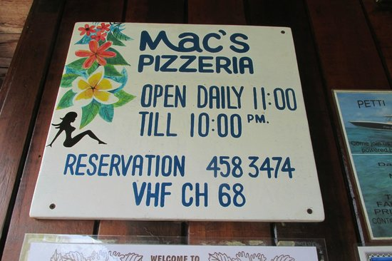 Mac's Pizzeria: Hours andd Phone