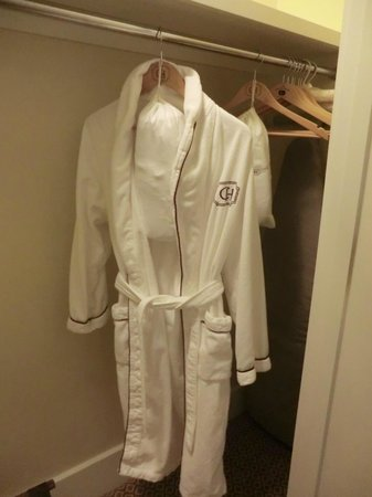The Capital Hotel: nice plush robe in the closet