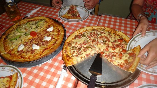 Sim's Pizzeria & Sports Bar: Pizzas - Perogie, Meat Lover, American and Mexican
