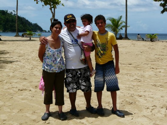 Maracas Bay: My family at Maracas Beach
