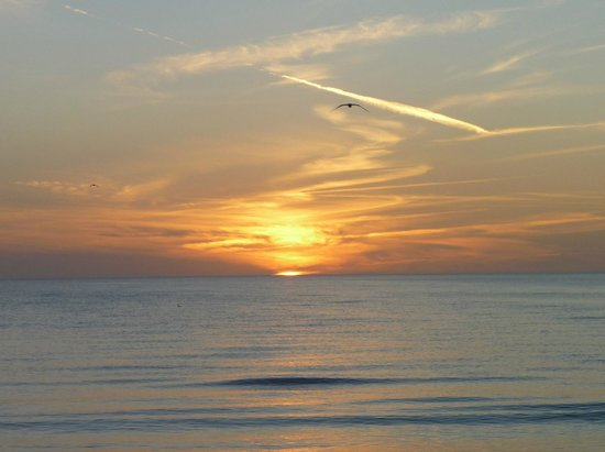 Pointe Estero Beach Resort: Sunset from the beach